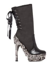 6 Micro Suede Boots With Adjule Satin Laces Ia