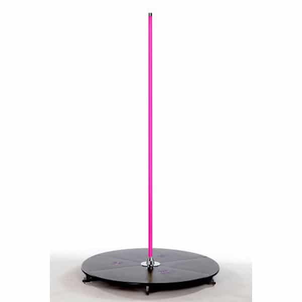 pink pole with stage