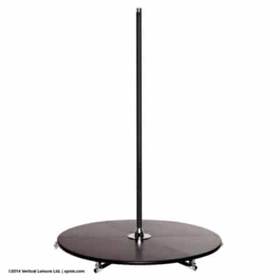 black pole with stage
